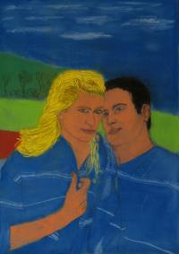 resimler-pastel-portraits-on-blue-paper-height-42-cm.jpg